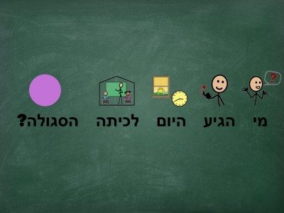 """Who came to the purple class today?  (Hebrew is read from right to left)"""