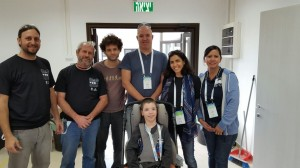The Stand Alone team (Left to Right): Tal Leibovitch, Ohad Galdor, Shachar Liberman, Eran and Guy Tamir, Gill Rodriguez, Janet Sagun