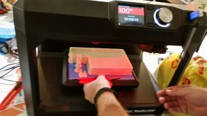 Printing the prototype in a 3D printer.  Amazing technology!